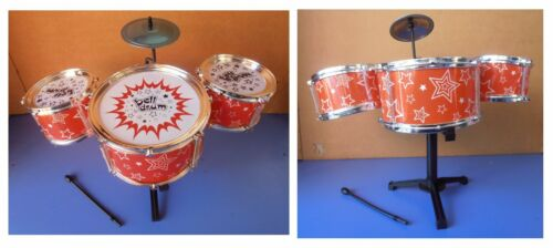 """Batteria musicale giocattolo /""""bell drum/"""" kit grancassa due tamburi piatto"""