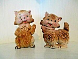 Vintage 1930s Anthropomorphic Cat Figurines Kitsch JAPAN