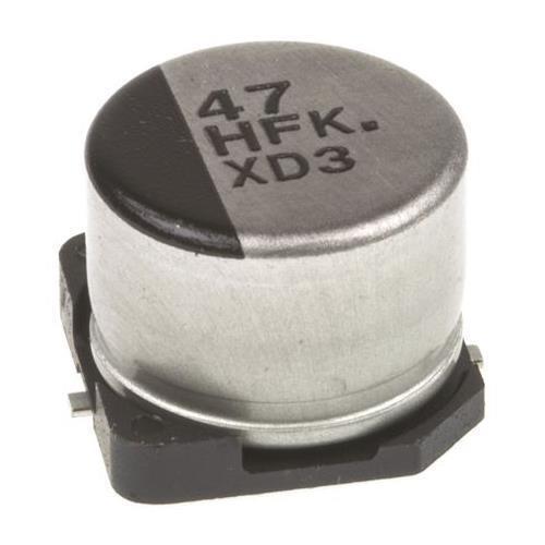 700 x Panasonic Aluminium Electrolytic Capacitor EEEFK1H470P 47uF 50V dc +105°C