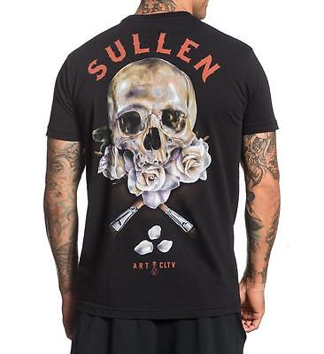 Sullen Pin Up Street Bike Gothic Americana Tattoo Womens Vneck Tee PAVIA BADGE