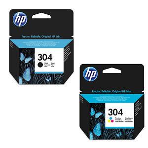 2-CARTUCCE-ORIGINALI-HP-304-304-PER-HP-DeskJet-2630-2632-2633-3720-3720-Series