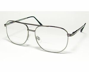 2dacbd8296c59 Image is loading BIFOCAL-READING-GLASSES-AVIATOR-READERS-CLEAR-LENS-1-