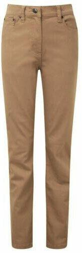 Ladies Coffee Mocha Caramel Color Stretchy Slim Fit Body Hugging Jeans 8-14