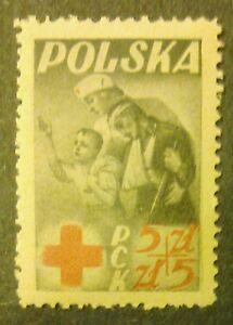 POLAND STAMPS MNH 1Fi428 ScB56 Mi471 - PRC Polish Red Cross, 1947, ** - Reda, Polska - POLAND STAMPS MNH 1Fi428 ScB56 Mi471 - PRC Polish Red Cross, 1947, ** - Reda, Polska