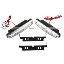 2x8 LED Car DRL Fog Driving Daylight Daytime Running Light White Head Lamp #YU