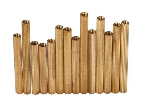 New 20Pcs M2 Knurled Brass Spacer Stand-Off Pillar Female-Female Brass Threaded