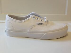 111eaa1dacbd8f New Kids Vans Authentic True White Leather Sneaker Shoe Unisex Boys ...