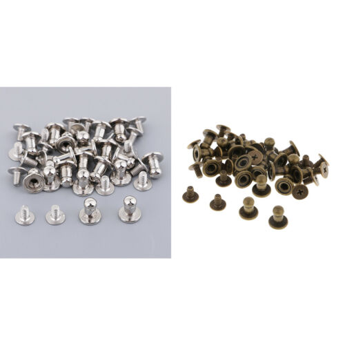 40 Sets Decorative Stud Button Screw Rivets Fit For Leather Crafts Decors