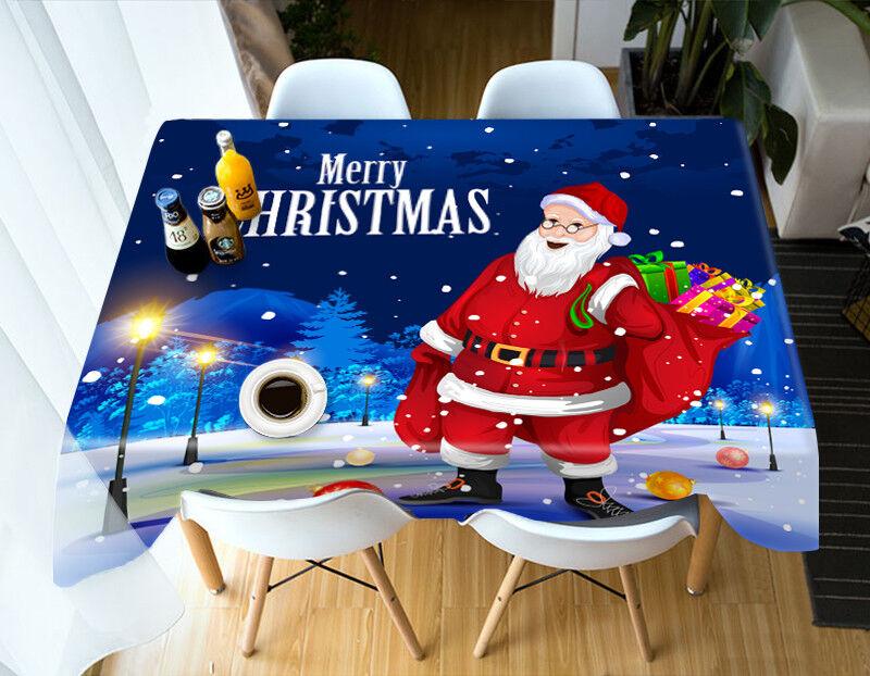 3D Christmas Xmas 39 Tablecloth Cover Cloth Birthday Party Event AJ WALLPAPER UK