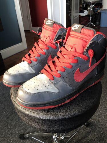 Nike Dunk High 2008 Varsity Red Gray Black Grey  S