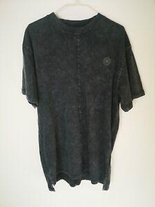Men's RELIGION London T Shirt. Small. Black Acid Wash. Long Line. Great...