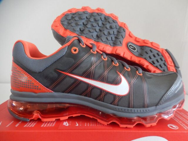 Nike Air Max 2009 Mens 486978-018 Dark Grey Vivid Orange Running ... ea8499768