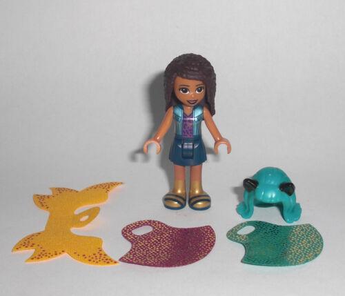 Figur Umkleide Cape 41344 Andrea mit Perücke Rock und Umhang LEGO Friends