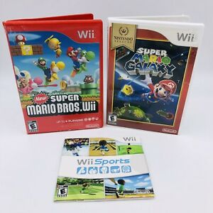 Wii-Game-Lot-Of-3-New-Super-Mario-Bros-Wii-Super-Mario-Galaxy-amp-Wii-Sports