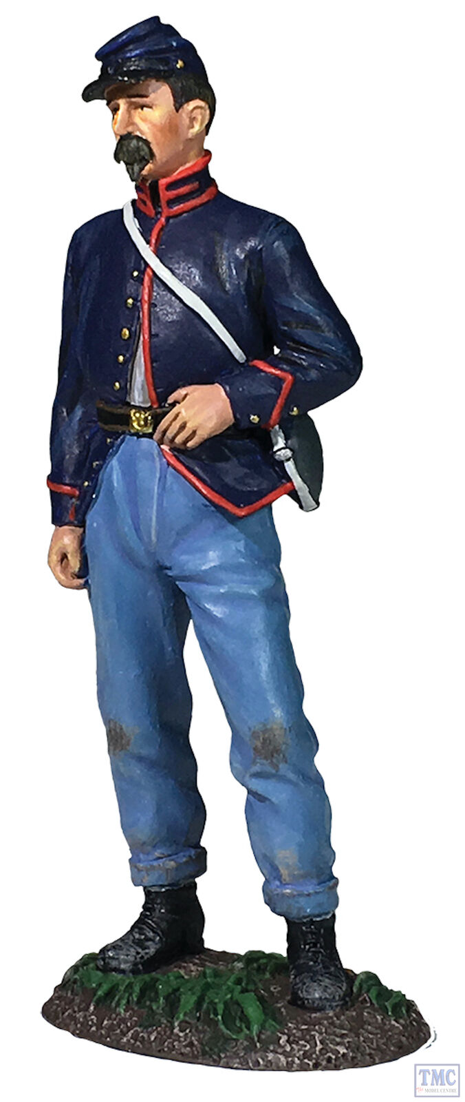 B31283 W.Britain Federal Artilleryman Standing with Hand on Belt