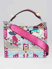 c8c6818f0f03 Fendi Pink Metallic Multicolor Leather Kan I Wonder Shoulder Bag 8BT283