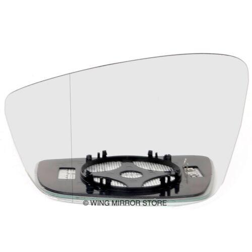 Left side for Skoda Fabia 12-16 Wide Angle heated wing mirror glass clip on