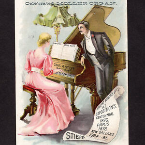 Charles-M-Stieff-Piano-Baltimore-Factory-View-Music-Store-Advertising-Trade-Card