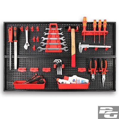 XXL Werkzeugwand 1-4 Stück Lochwand Hakensortiment Werkstattwand Werkzeughalter