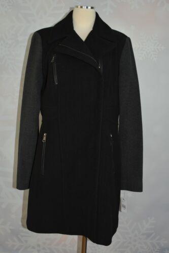 pixie York Marc Laine Et Mélangée New Manteau 14 En Taille Charcoal Noir gPxP7F