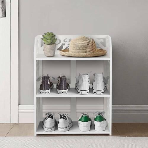 3//4//5 Tiers Shoe Rack Storage Shelf Display Stand Organiser Unit Cabinet White