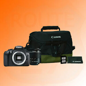 Canon Eos 1300d Dslr Camera Zoom Lens 18 55mm 100eg Bag 16gb Sd Card