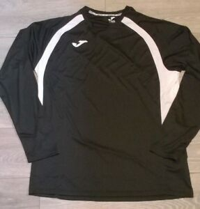 Homme-Noir-Blanc-Joma-formation-sportive-football-style-chemise-haut-taille-2XL-3XL-neuf