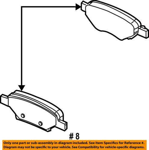 GM OEM Brake-Rear Pads 25864605