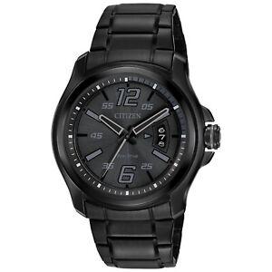 Citizen-Eco-Drive-Men-039-s-HTM-Calendar-Black-Dial-43mm-Watch-AW1354-82E