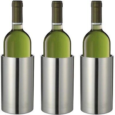 Bar & Wein-accessoires Systematisch 3x Flaschenkühler Weinkühler Edelstahl Sektkühler Doppelwandig Getränkekühler Diversifiziert In Der Verpackung