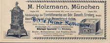 MÜNCHEN, Werbung 1900, M. Holzmann Dauerbrand-Öfen Böhringer Spar-Herd Gienanth