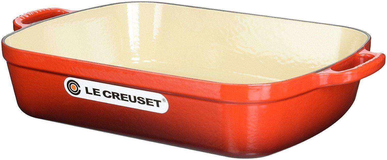 LE CREUSET Signature EMAILLE Fonte Rectangulaire Sauteuse 5.25 quart, nouveau