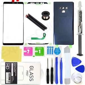 For-Samsung-Galaxy-Note-9-N960-Blue-Front-Screen-Glass-Back-Replacement-Kit