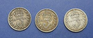 Edward-VII-Silver-Three-pence-Choose-your-date-or-grade