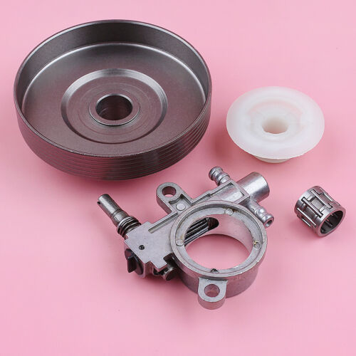 3//8 6T Clutch Drum w Bearing Oil Pump Worm Gear For Chinese Chainsaw 3800 38cc