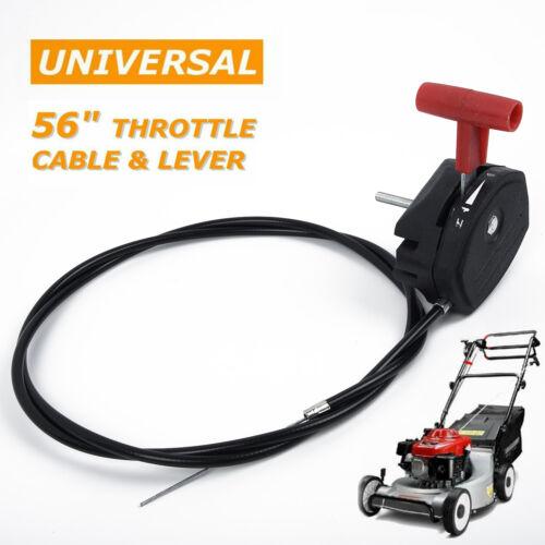 142 Cm 56 Alloy Throttle Cable /& Choke Lever Lawnmower Lawn Mower Universal UK