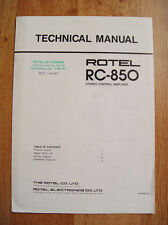 Rotel RC-850 Technical Manual