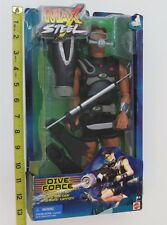 "-MAX STEEL - MATTEL - DIVE FORCE 12"" FIGURE - UNUSED - NIP -"