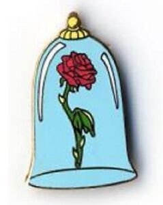 Disney beauty the beast enchanted rose under glass for Rose under glass