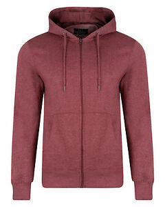 SMITH-amp-JONES-New-Full-Zip-Hooded-Sweatshirt-Fleece-Hoodie-Hoody-Burgundy-Marl