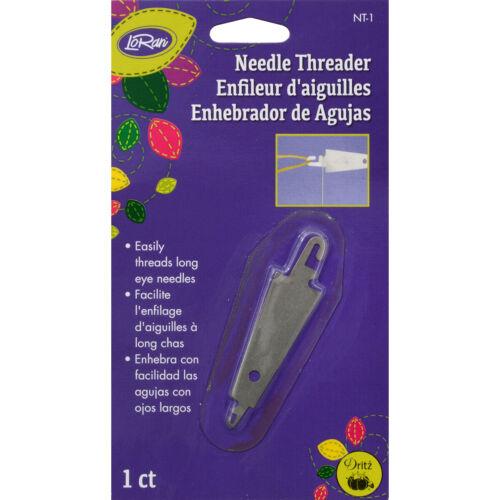 easily threads long eye needles without strain on eyes LoRan Needle Threader