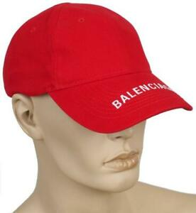 8b23193babff Image is loading NEW-BALENCIAGA-CURRENT-RED-LOGO-VISOR-COTTON-BASEBALL-