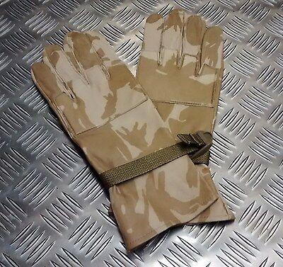 Amichevole Originale Inglese Militare Mimetico Deserto Pelle Combattimento Guanti - Tutte
