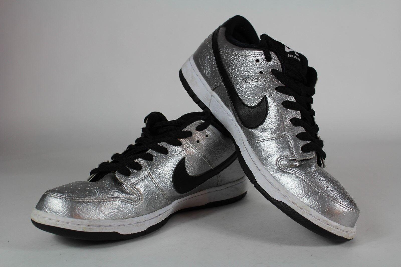 Nike SB Premium Dunk Low Cold Pizza Mens 12 12 12 Metallic Silver EUC A00 54dcf9