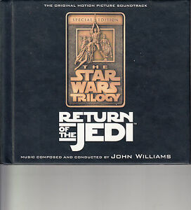 Star-Wars-Return-of-The-Jedi-1983-Soundtrack-2-Disc-With-Book-37-Tracks-CD