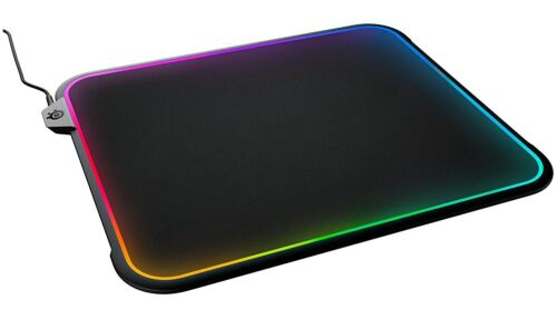 SteelSeries QcK Prism Dual-Textured Gaming Mouse Pad w// 12-Zone RGB Illumination