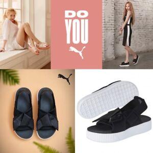 74dadc16a279 Image is loading PUMA-Authentic-Platform-Slide-Sandal-Women-Shoes-Black-