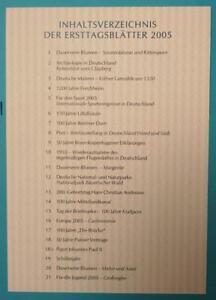 Bund-ETB-Erstagsblaetter-Jahrgang-2005-komplett