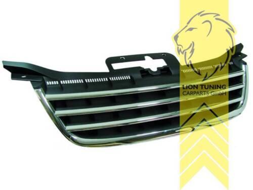 Sportgrill Kühlergrill für VW Touran für VW Caddy schwarz mit Chromleisten