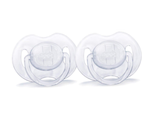 AVENT Translucent Orthodontic Infant Pacifier Clear 0-6 Months 2 Count